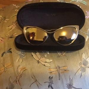 bc3994fa7d8d Tom Ford Cateye Mirror Sunglasses